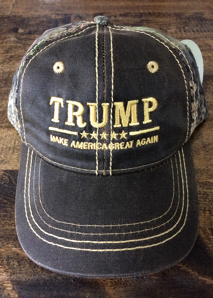 Trump MAGA 2020 Mossy Oak Star Camo Hat