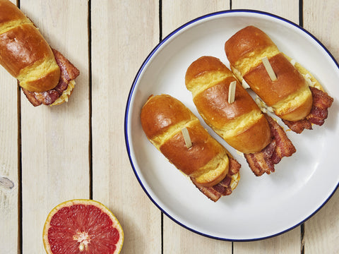 10 Breakfast Brioche Buns with Smoked Bacon | Salad Days Online