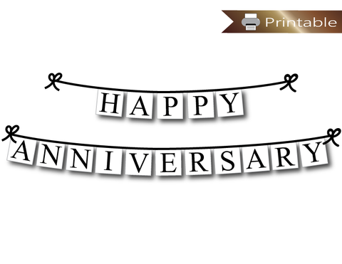 printable happy anniversary banner - Celebrating Together