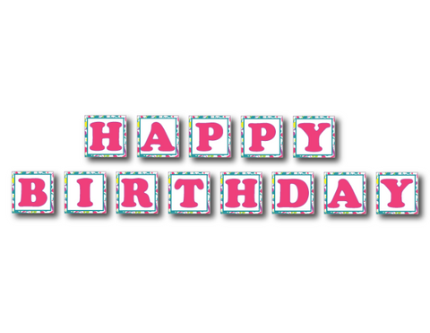 Printable Art Party Happy Birthday Banner