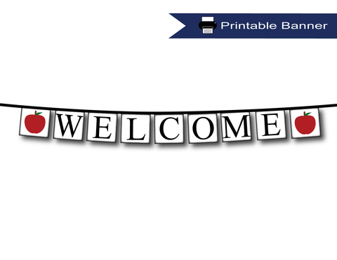 Welcome banner for back to school class room decor - Celebrating Together