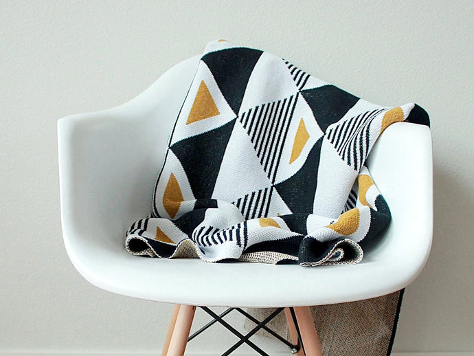 Recycled Cotton Throw Blanket - Envie