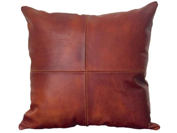 Leather Pillow Cover - Mahogany