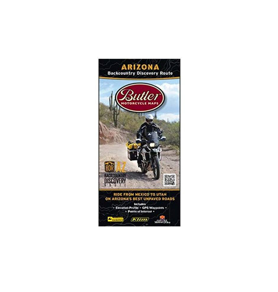 Butler Motorcycle Map - Outdoor Living/Travel - Iron and Resin