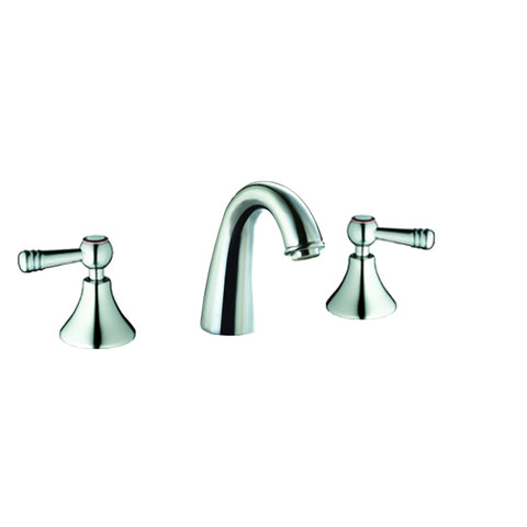 "AB12 1018C Dawn 8"" Centerset Widespread Lavatory Faucet with Two Lever Handles"