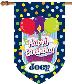 Personalized Birthday Boy House Flag