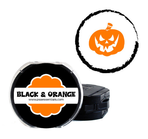 Black and Orange Self-Inking Stamp Cartridge Refill