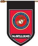 Personalized US Marines House Flag