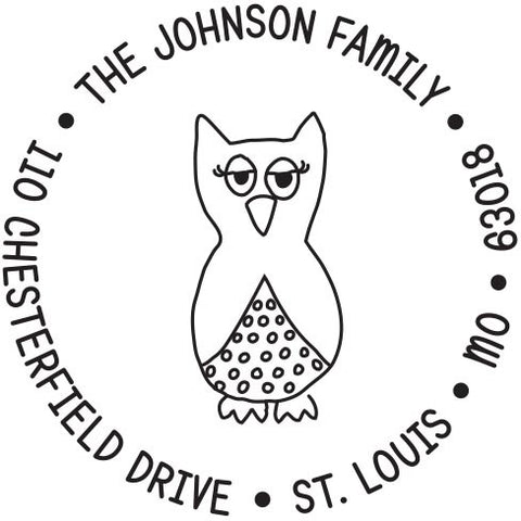 What a Hoot Personalized Self-Inking Stamp by Kelly Hughes