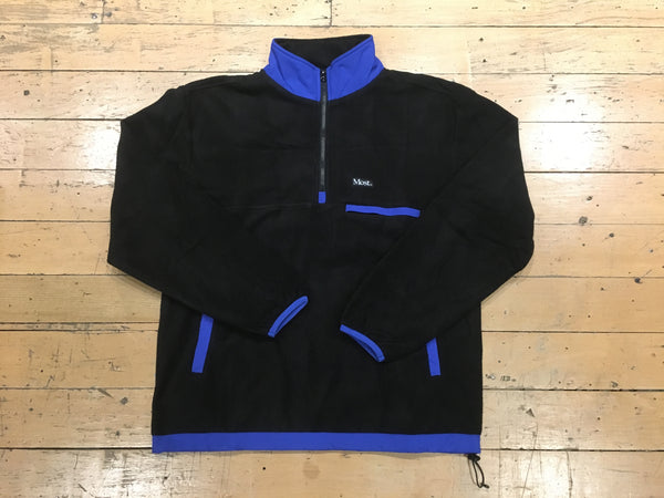 1/2 Zip Fleece Jacket - Black/Royal