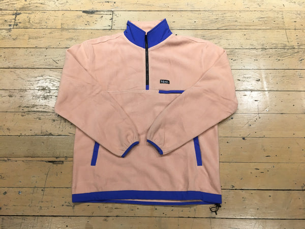1/2 Zip Fleece Jacket - Guava/Royal