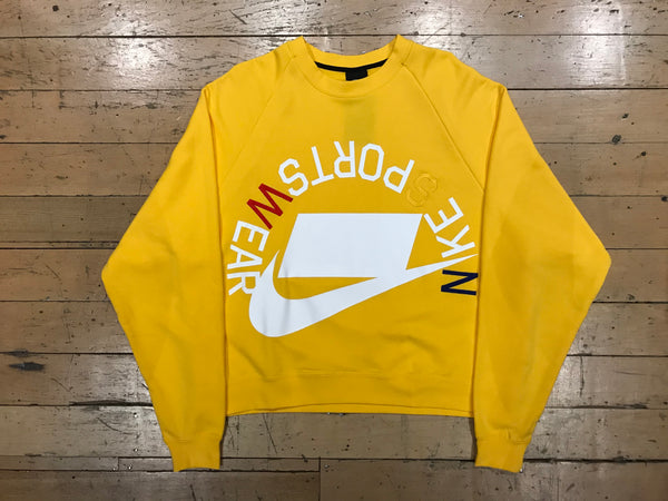 Nike Sportswear French Terry Crew - Amarillo/White