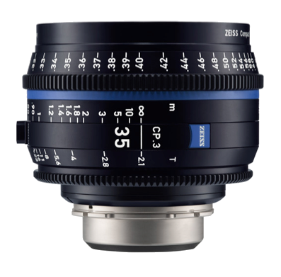 Zeiss EF CP.3 35mm T2.1 With Front Lens Cap & Back Element Cap