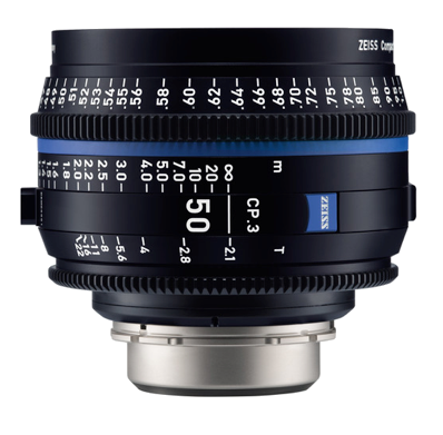 Zeiss EF CP.3 50mm T2.1 With Front Lens Cap & Back Element Cap