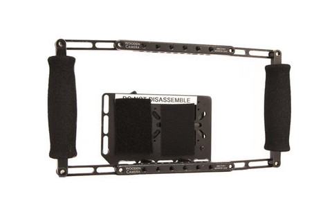 Wooden Camera Director's Monitor Cage with Anton Bauer Gold Mount Plate