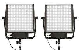 Litepanels Astra 6X LED Bi-Color Duo Light Kit With Gold Mount Battery Brackets