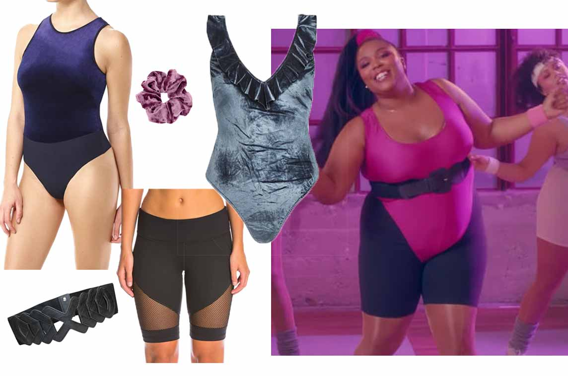 2019's Best Music Video Looks | Shop Lizzo inspired outfits | Shop Lizzo Juice inspired outfits | Shop bodysuits and biker shorts | velvet bodysuits | black biker shorts