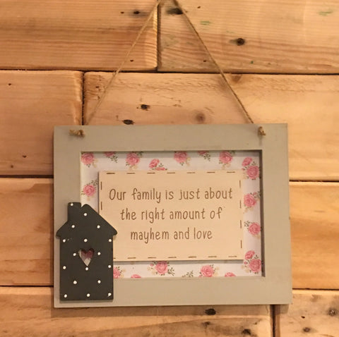 Personalised Wooden Frame Sign - Our Family Is 8699