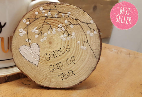Personalised Wooden Coaster - Blossom 5954