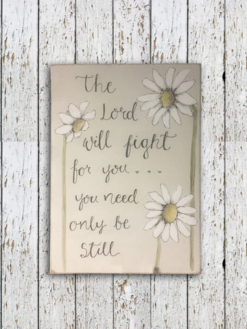 Bees & Daisies A5 Sign Portrait -Tall Daisies 8717