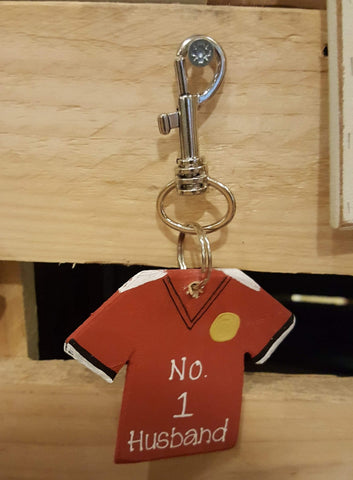 Personalised Football Shirt Keyring 7257