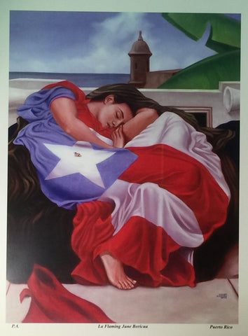 La Flaming June Boricua Serigraphy