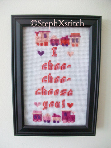 I Choo-Choo-Choose You - PDF Cross Stitch Pattern