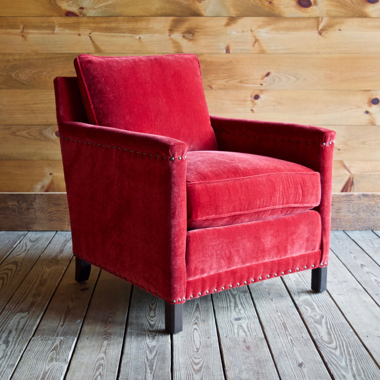 Placid Chair in Everest Crimson
