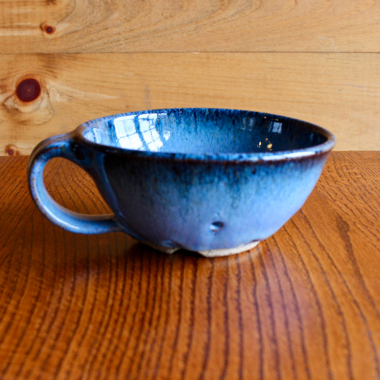 handmade and glazed rustic berry bowls