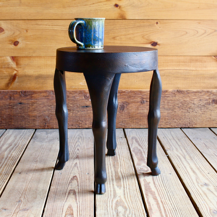 Hoofed Side Table in Antique Rust