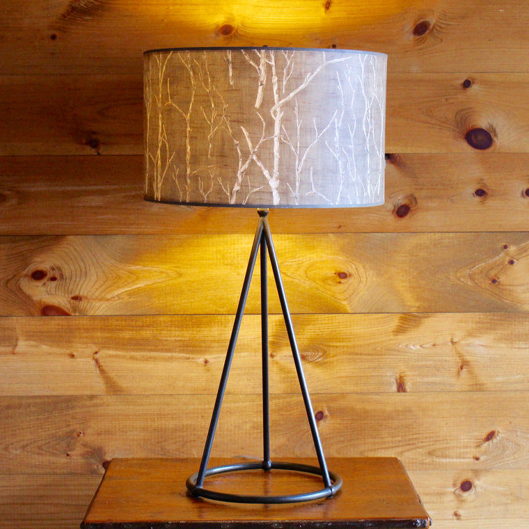 Geometry Table Lamp with Handpainted Shade