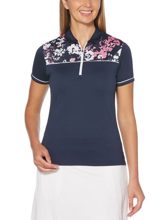 CALLAWAY WOMENS FLORAL PRINT POLO - Miami Golf