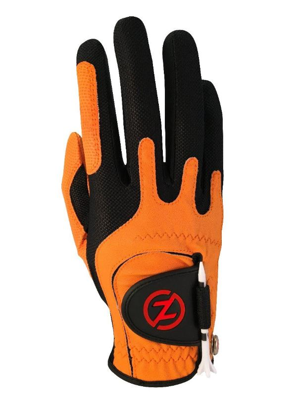 Zero Friction Universal Fit One Size Golf Glove (ORANGE)