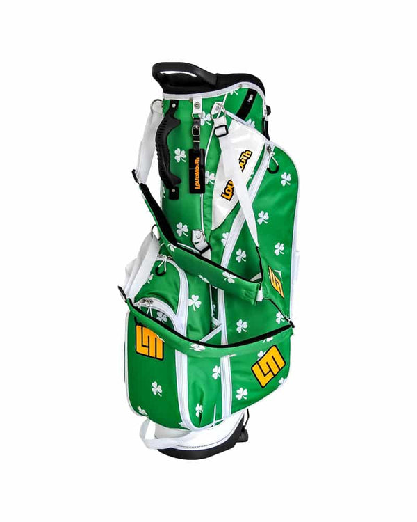 "LOUDBAGS SHAMROCK 8.5"" DOUBLE STRAP GOLF STAND BAG - Miami Golf"