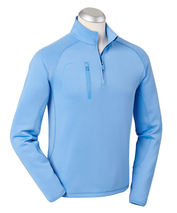 BOBBY JONES CRAWFORD PERFORMANCE LONG SLEEVE QUARTER-ZIP PULLOVER (SKYBLUE) - Miami Golf