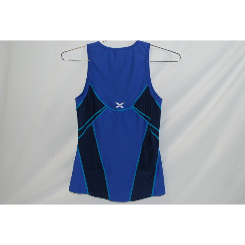 2XU Cycling Womens Long Distance Tri Singlet Blue/Navy XL-Misc-The Gear Attic