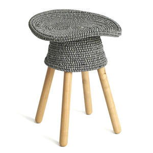 Coiled Stool, Grey