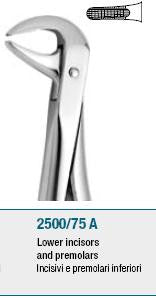 Extraction Forceps, Lower Premolars and Incisors (2500/75 A) Forceps - Blue & Green Inc.