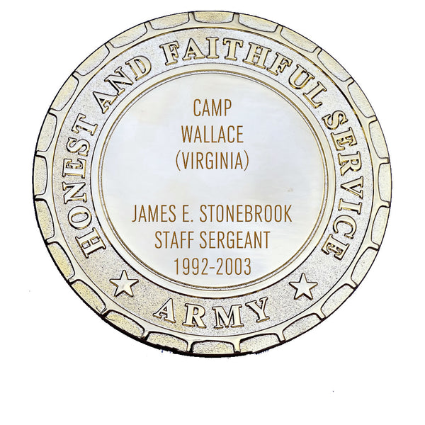 Army Plaque - Camp Wallace
