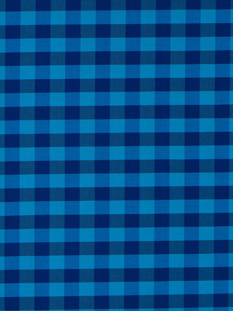 Large Gingham Check – Turquoise and Denim