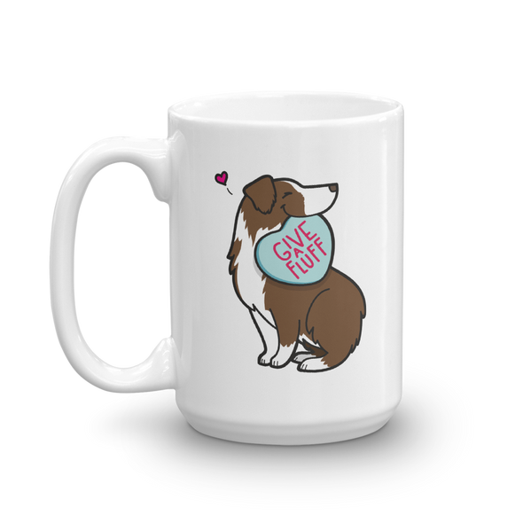 Aussie Candy Heart Mug - Red Bi-Color