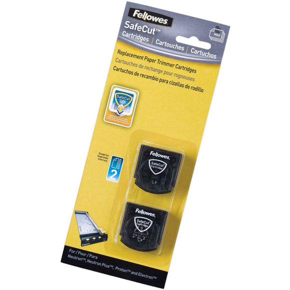 Fellowes SafeCut'Ñ¢ Rotary Trimmer Blades - 2Pk Straight