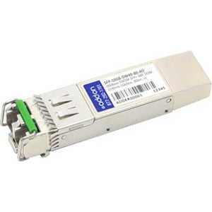 AddOn MSA and TAA Compliant 10GBase-DWDM 100GHz SFP+ Transceiver (SMF, 1538.19nm, 80km, LC, DOM)