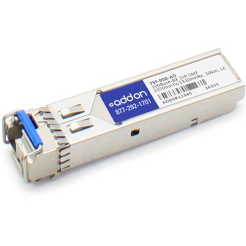 AddOn Accedian 7SF-000 Compatible TAA Compliant 100Base-BX SFP Transceiver (SMF, 1550nmTx-1310nmRx, 20km, LC)