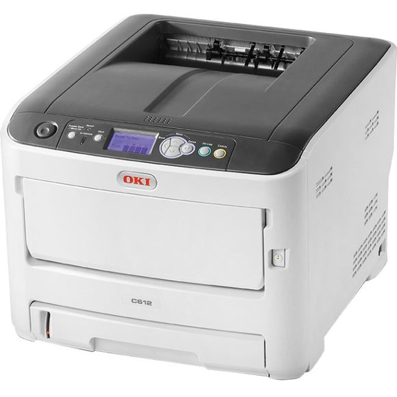 Oki C612n LED Printer - Color - 1200 x 600 dpi Print - Plain Paper Print - Desktop