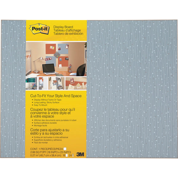 3m Mobile Interactive Solution Self-stick Bulletin Board,cut-to-fit Ice