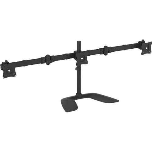 StarTech.com Triple Monitor Stand - Crossbar - Steel & Aluminum - For VESA Mount Monitors up to 27in - Computer Monitor Stand - 3 Monitor Arm