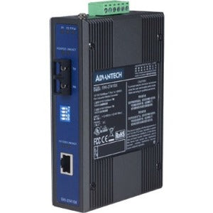 B+B SmartWorx 10-100T (X) to Single-Mode SC Type Fiber Optic Industrial Media Converter