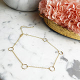 KIKI. Gold/Silver Tone Circle Choker | Elnique