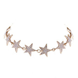 MARISOL. Gold Diamanté Star Choker | Elnique